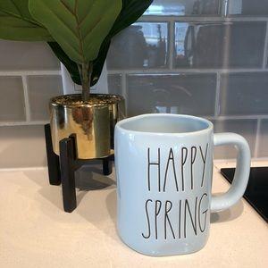 Rae Dunn NWT HAPPY SPRING Blue Ceramic Mug